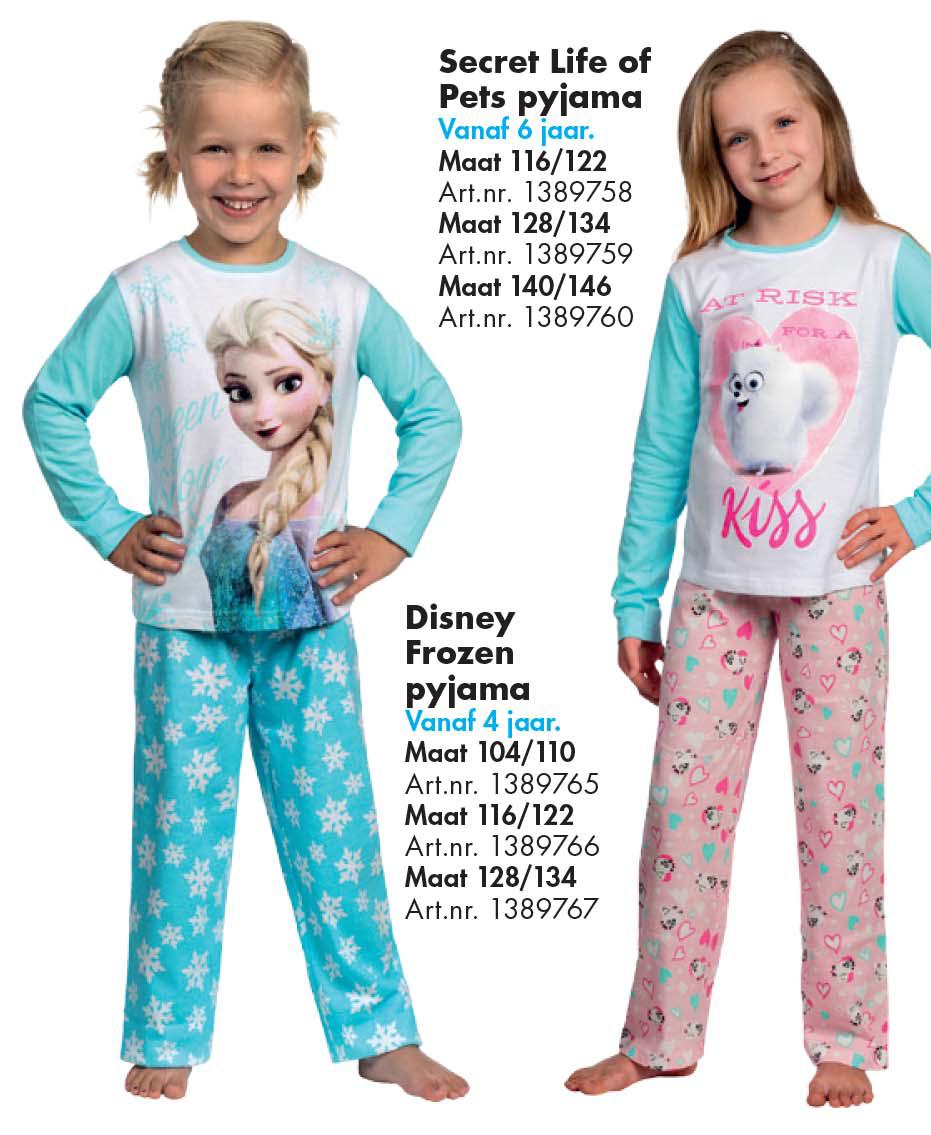 Bart Smit Secret Life Of Pets Pyjama Of Disney Frozen Pyjama