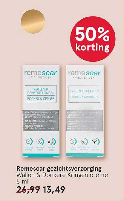Etos Remescar Gezichtsverzorging: 50% Korting