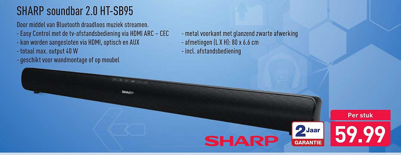 ALDI Sharp Soundbar 2.0 HT-SB95