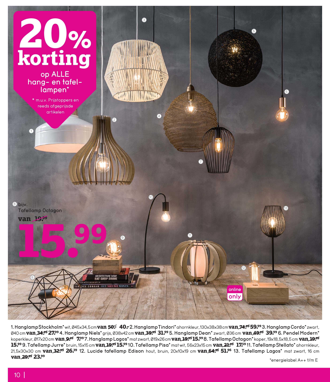 Leen Bakker 20% Korting Op ALLE Hang- En Tafel- Lampen