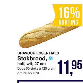 Bidfood Bravour Essentials Stokbrood