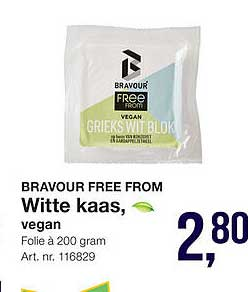 Bidfood Bravour Essentials Witte Kaas Vegan