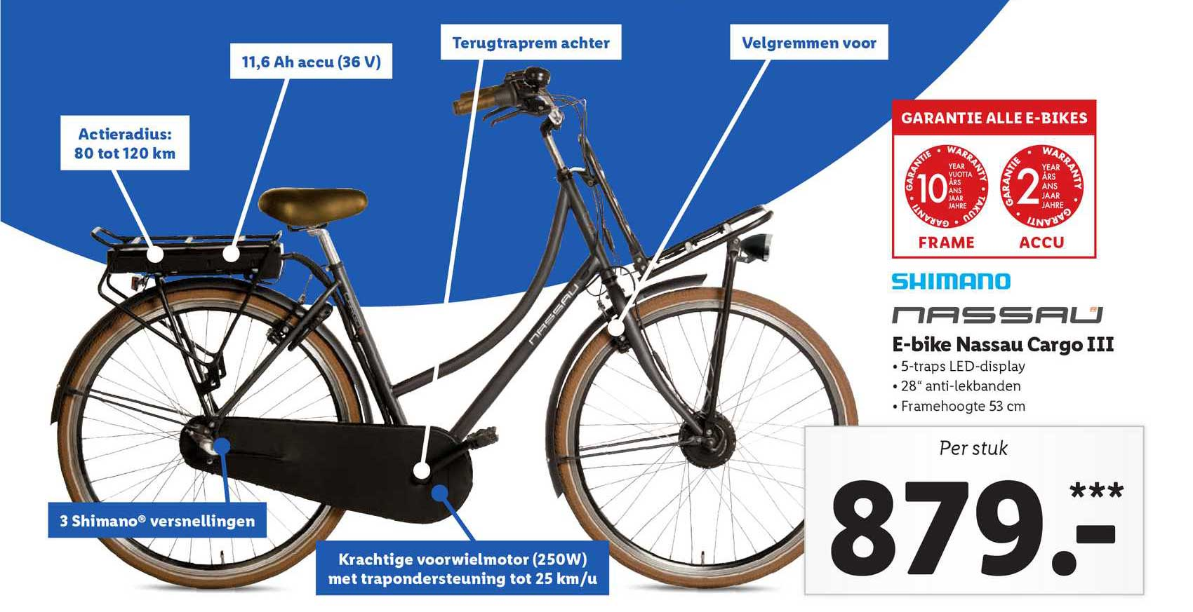 Lidl Shop E-Bike Nassau Cargo III