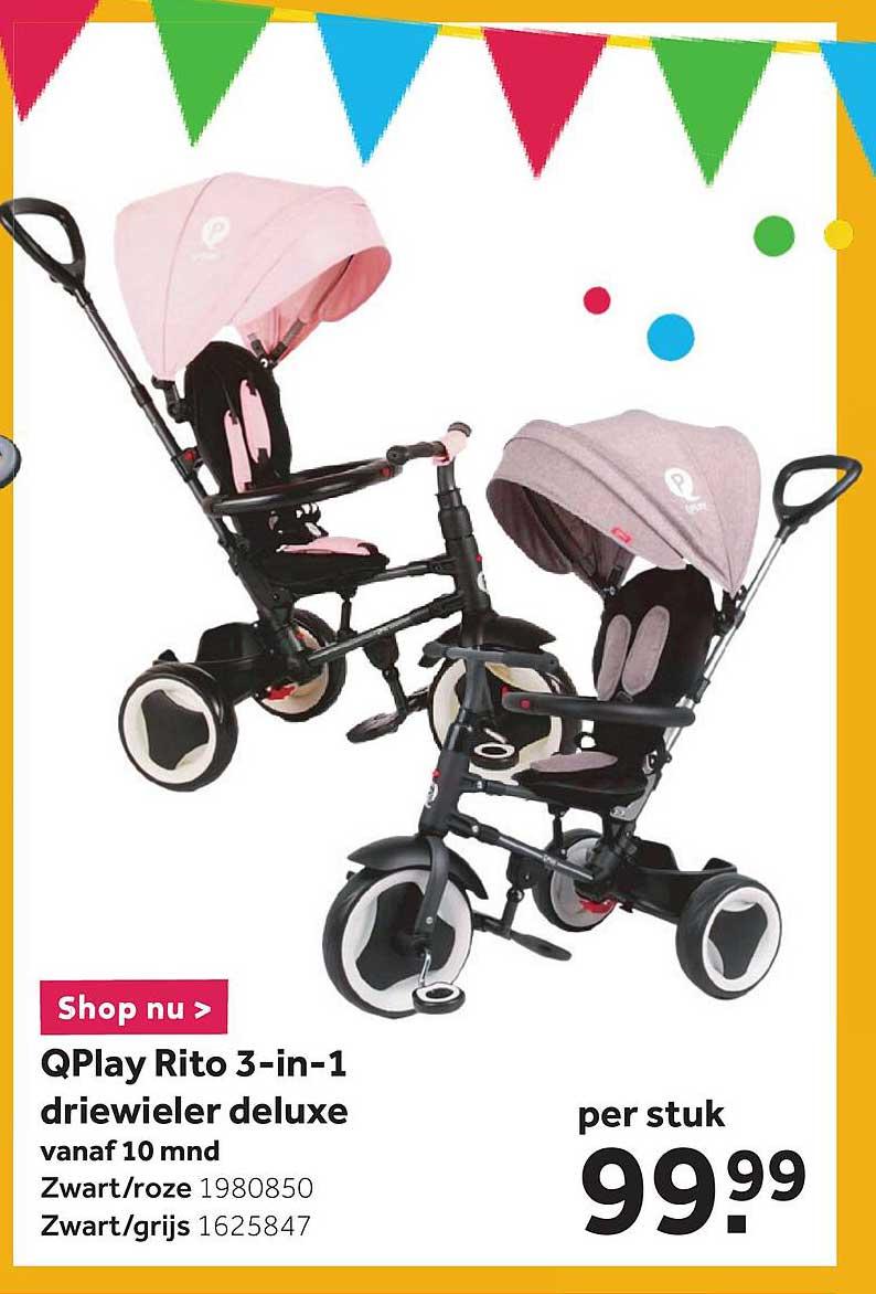 Intertoys QPlay Rito 3-in-1 Driewieler Deluxe
