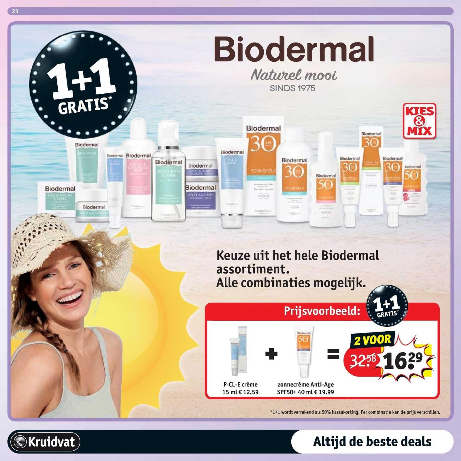 Kruidvat Biodermal: 1+1 Gratis
