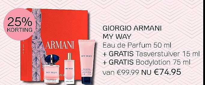 Pour Vous Giorgio Armani My Way Eau De Parfum 50 Ml 25% Korting
