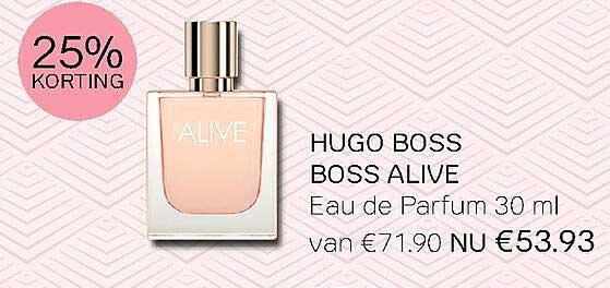 Pour Vous Hugo Boss Boss Alive Eau De Parfum 30 Ml 25% Korting