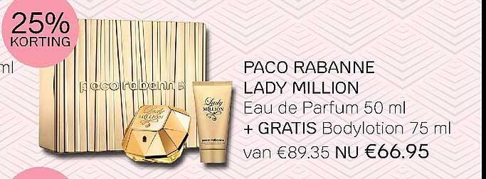 Pour Vous Paco Rabanne Lady Million Eau De Parfum 50 Ml 25% Korting