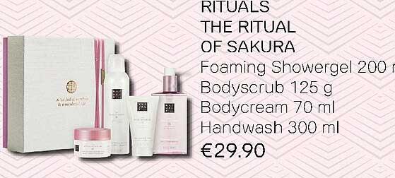 Pour Vous Rituals The Ritual Of Sakura : Foaming Showergel, Bodyscrub, Bodycream Of Handwash