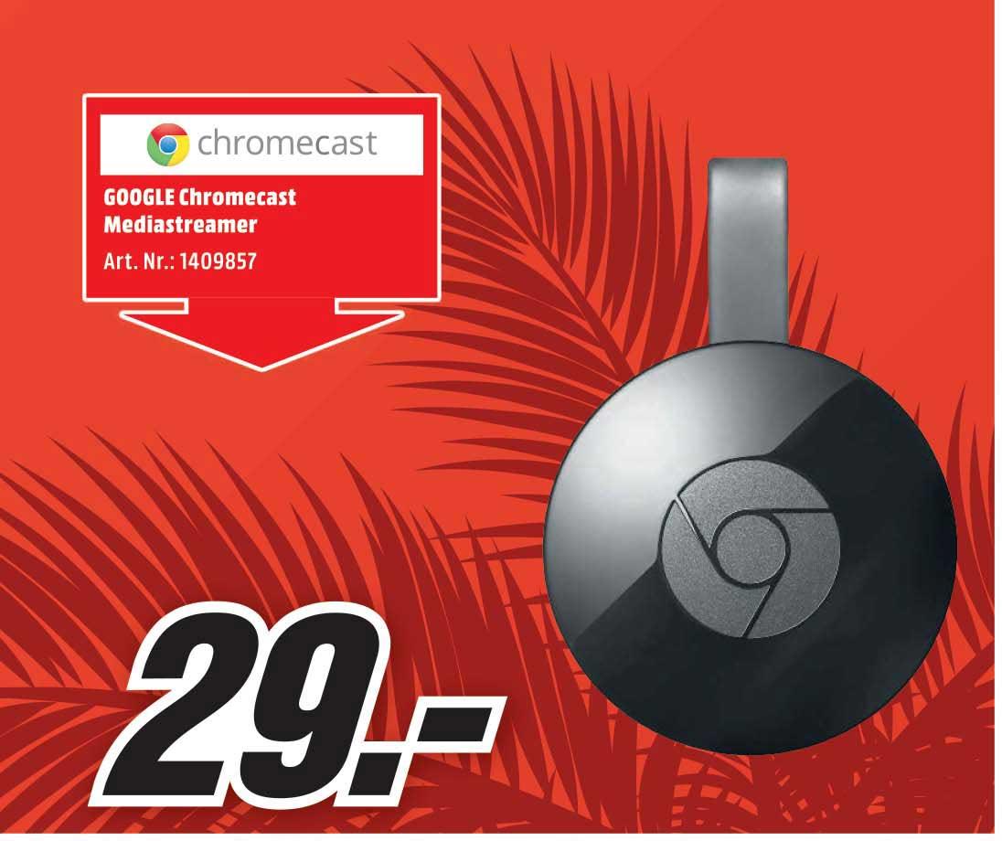 Mediamarkt GOOGLE Chromecast Mediastreamer