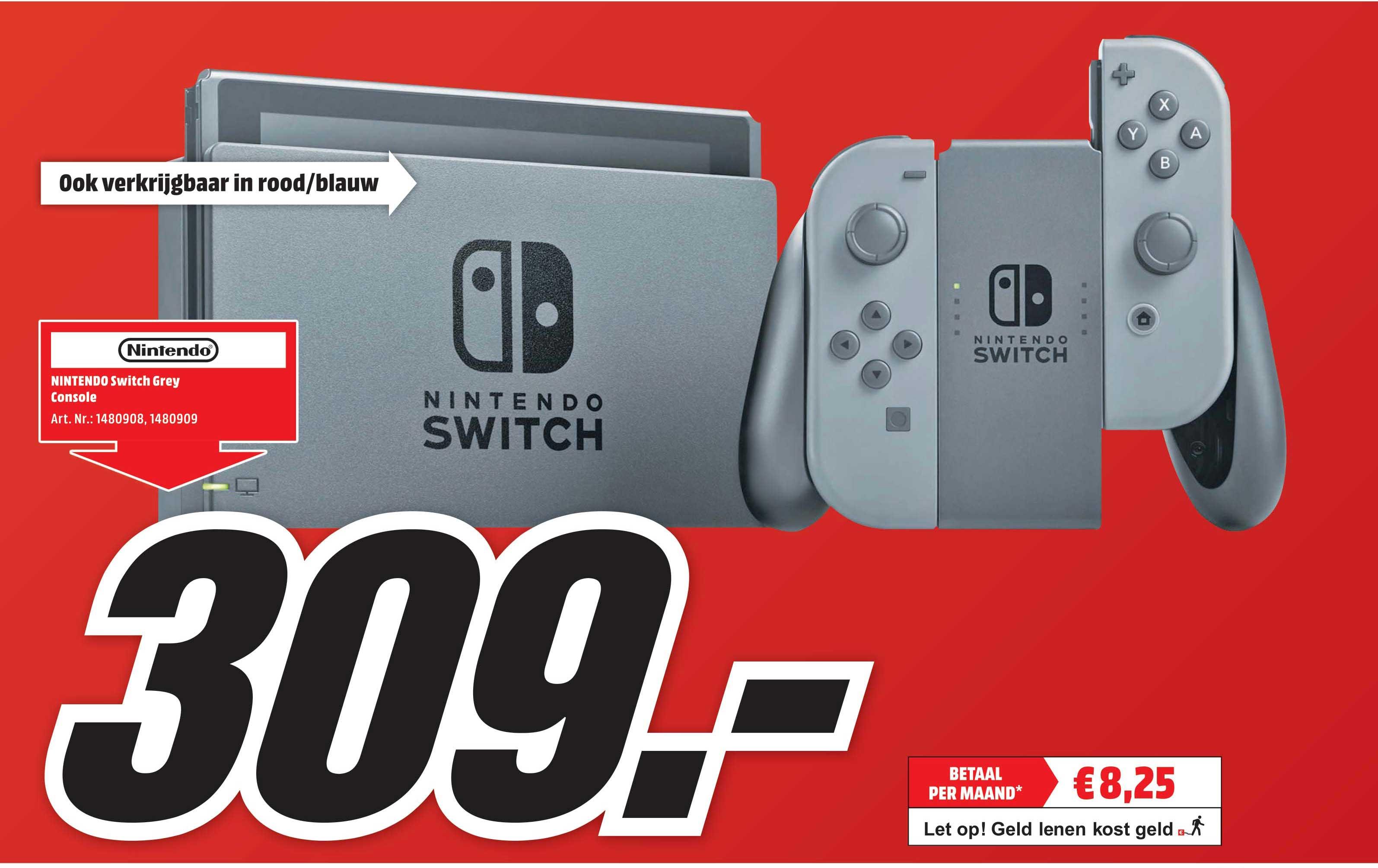 Mediamarkt Nintendo Switch Grey Console