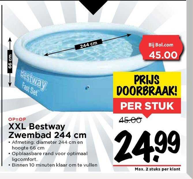 Vomar XXL Bestway Zwembad 244 Cm