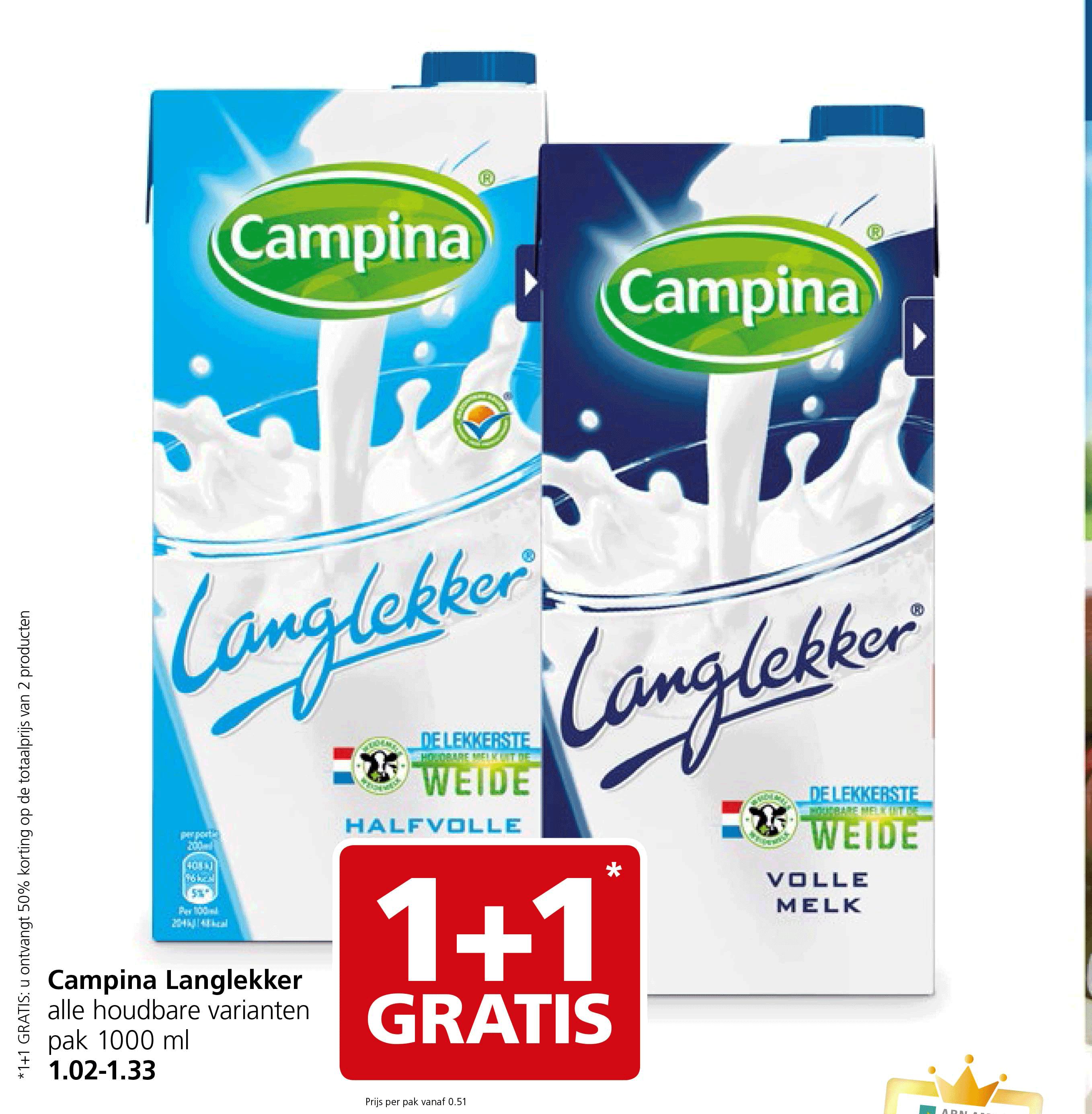 Jan Linders Campina Langlekker: 1+1 Gratis