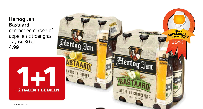 Jan Linders Hertog Jan Bastaard: 1+1 Gratis