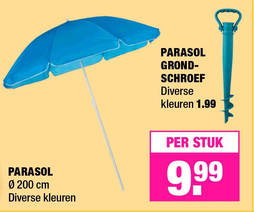Big Bazar Parasol En Parasol Grondschroef
