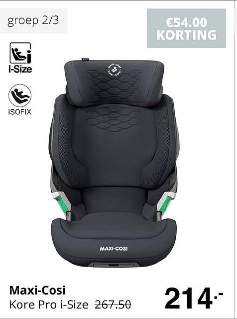 Baby & Tiener Maxi-Cosi Kore Pro I-Size €54.00 Korting