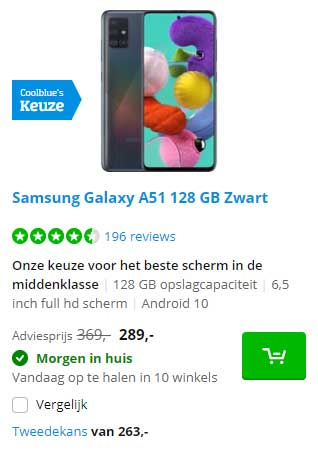 Coolblue Samsung Galaxy A51