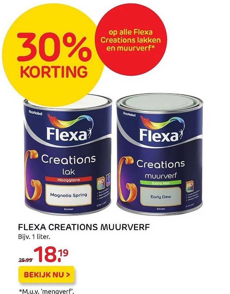 Praxis Flexa Creations Muurverf 30% Korting