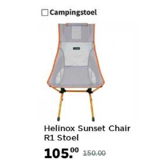 Bever Helinox Sunset Chair R1 Stoel Campingstoel