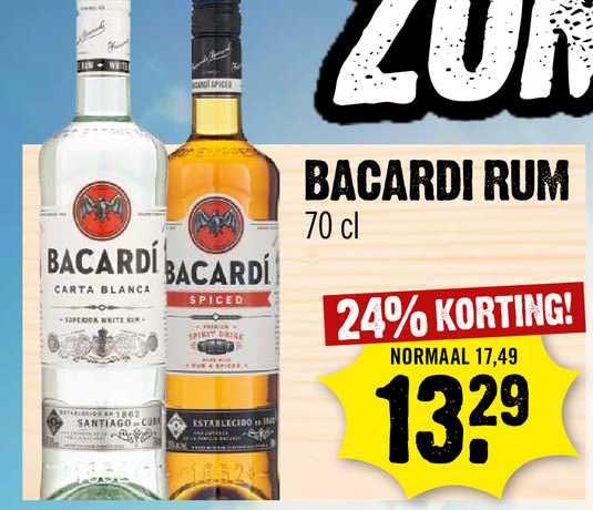 Dirck III Bacardi Rum 24% Korting