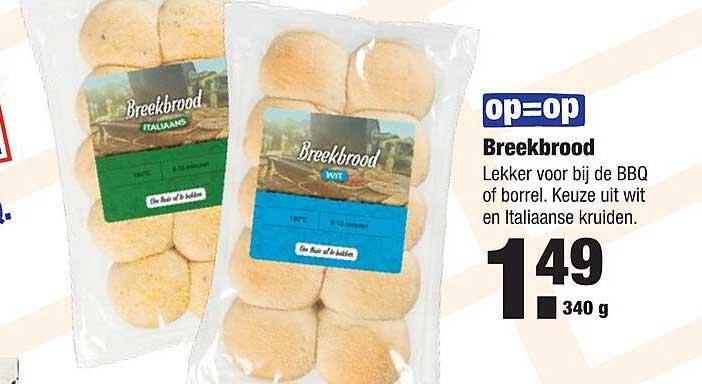 ALDI Breekbrood Wit Of Italiaanse Kruiden