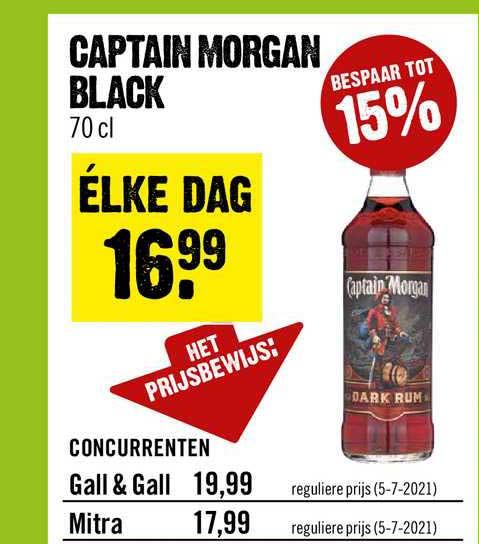 Dirck III Captain Morgan Black