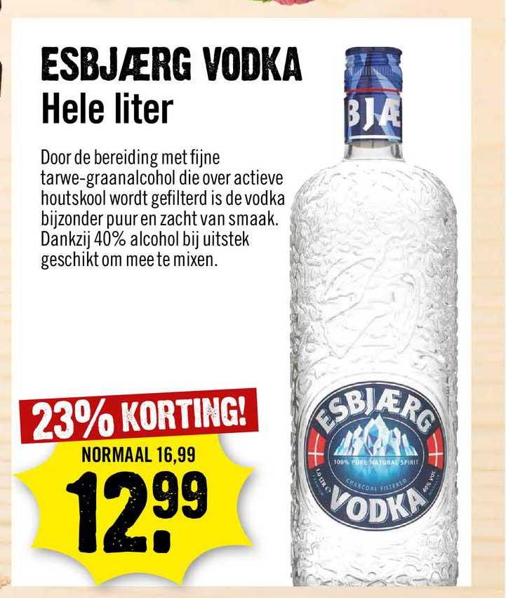 Dirck III Esbjærg Vodka 23% Korting