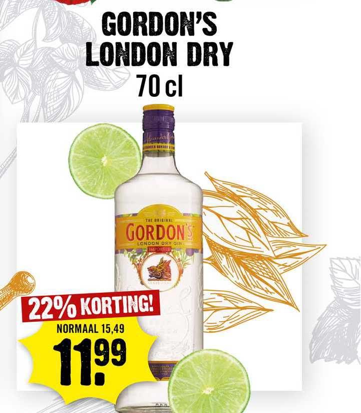 Dirck III Gordon's London Dry 22% Korting