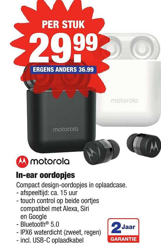 ALDI Motorola In-Ear Oordopjes