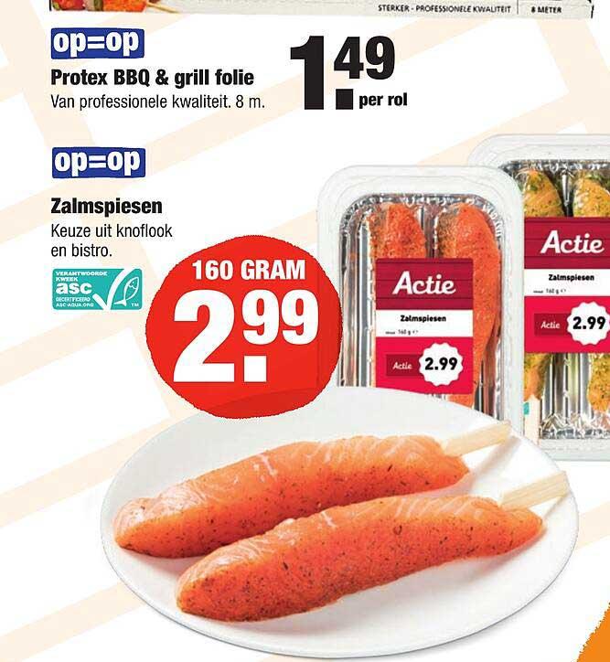 ALDI Protex BBQ & Grill Folie Of Zalmspiesen