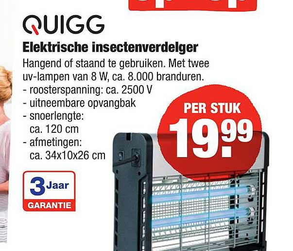 ALDI Quigg Elektrische Insectenverdelger