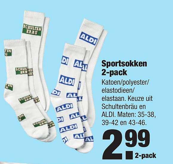 ALDI Sportsokken 2-Pack