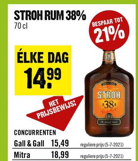 Dirck III Stroh Rum 38%
