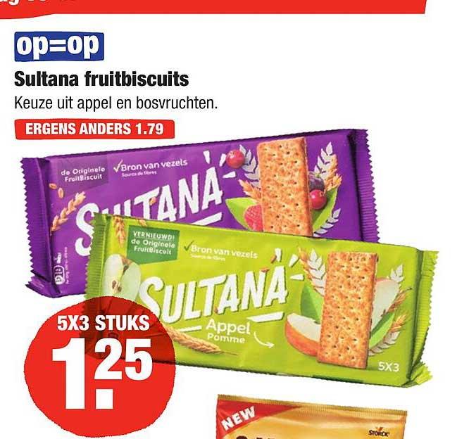 ALDI Sultana Fruitbiscuits Appel En Bosvruchten