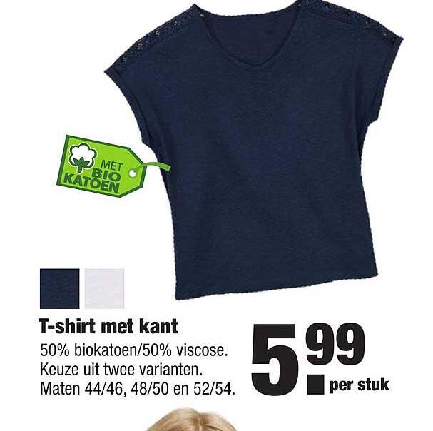 ALDI T-Shirt Met Kant