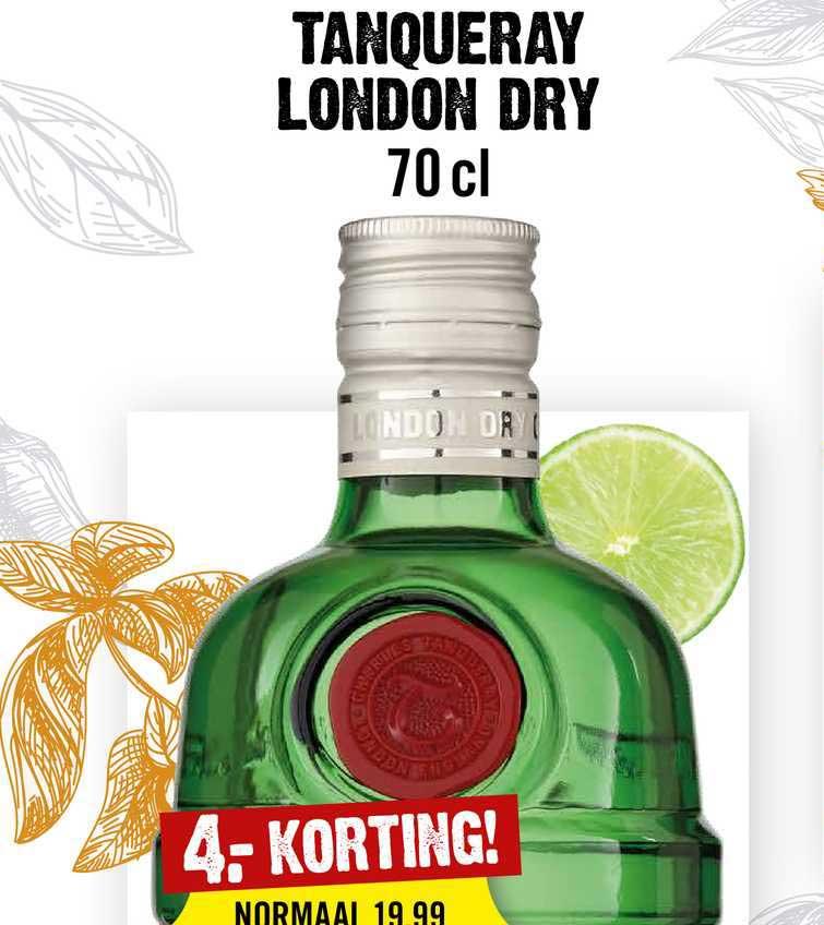 Dirck III Tanqueray London Dry 4.- Korting