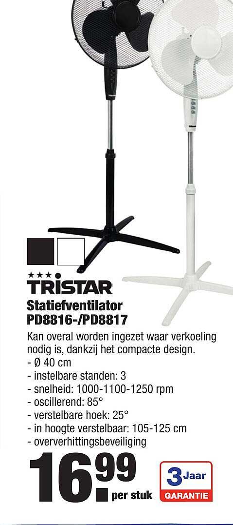 ALDI Tristar Statiefventilator PD8816--PD8817