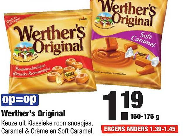 ALDI Werther's Original Klassieke Roomsnoepjes, Caramel & Crème En Soft Caramel