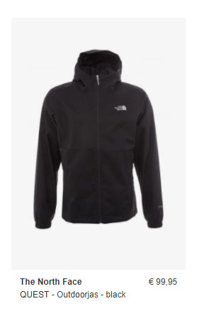 Zalando The North Face Outdoor Jas Zwart