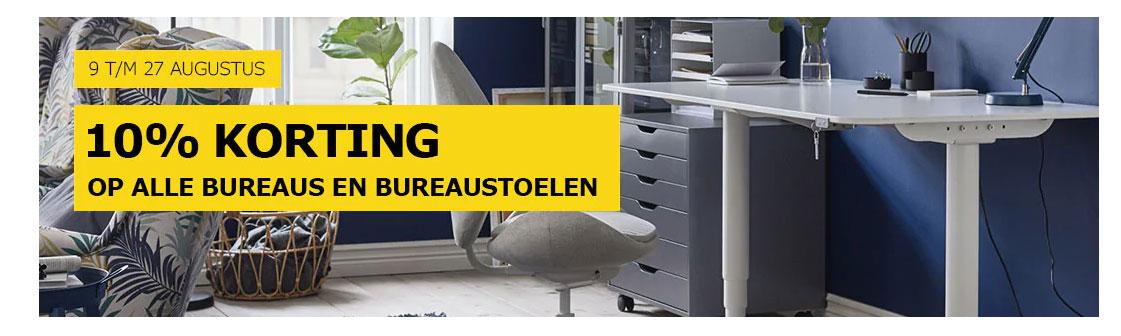 IKEA 10% Korting Op Alle Bureaus En Bureaustoelen