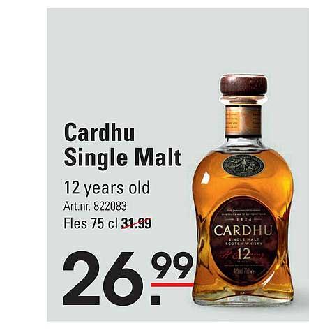 Sligro Cardhu Single Malt 12 Years Old