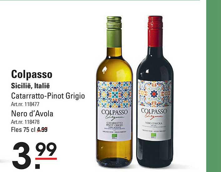 Sligro Colpasso Catarratto-Pinot Grigio Of Nero D'Avola Sicilië, Italië
