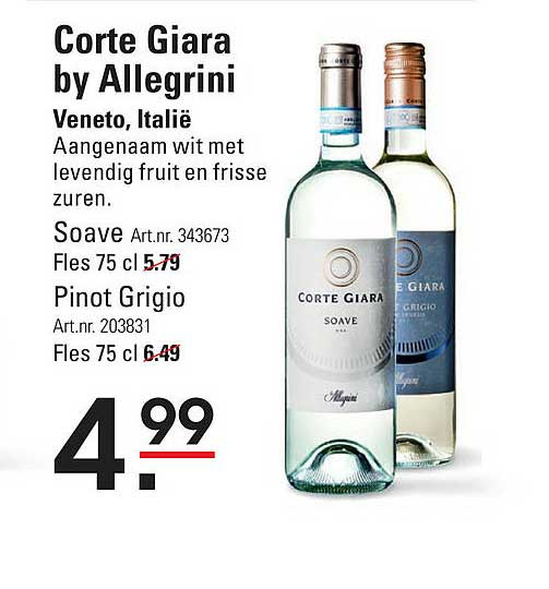 Sligro Corte Giara By Allegrini Soave Of Pinot Grigio Veneto, Italië