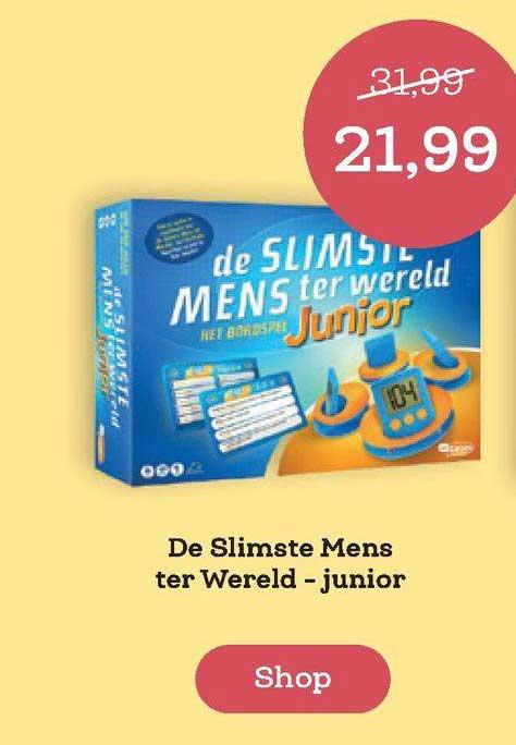 BookSpot De Slimste Mens Ter Wereld - Junior