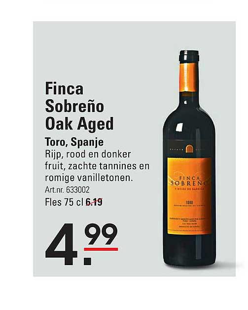 Sligro Finca Sobreño Oak Aged Toro, Spanje