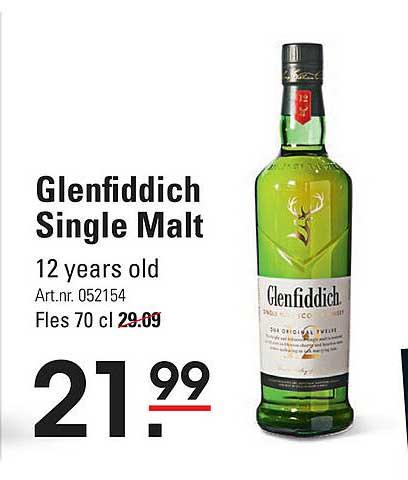 Sligro Glenfiddich Single Malt 12 Years Old