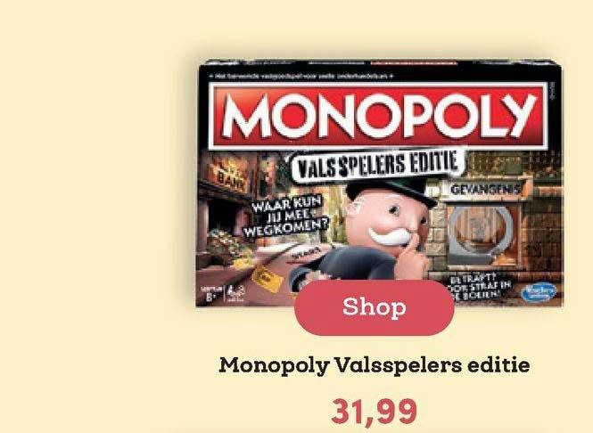BookSpot Monopoly Valsspelers Editie