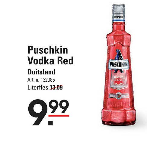 Sligro Puschkin Vodka Red