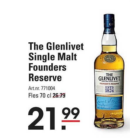 Sligro The Glenlivet Single Malt Founders Reserve