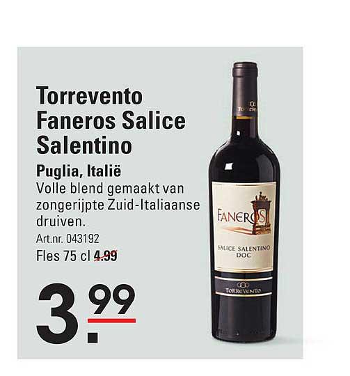 Sligro Torrevento Faneros Salice Salentino Puglia, Italië